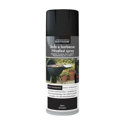 Smalto spray BBQ Rustolium alte temperature nero opaco 400 ml