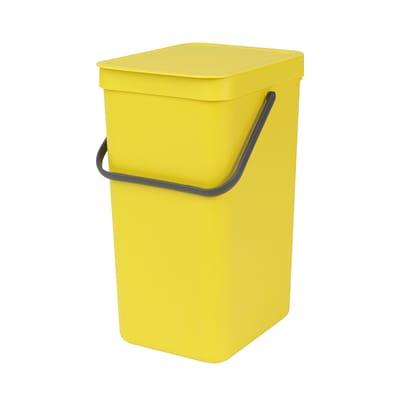 Pattumiera Sort & Go da incasso 16 L giallo
