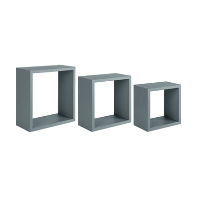 Set 3 cubi Spaceo grigio, sp 1,8 cm