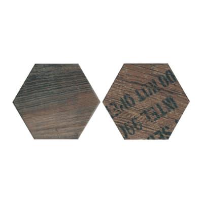 Piastrella Esagona 15 x 17,3 cm marrone