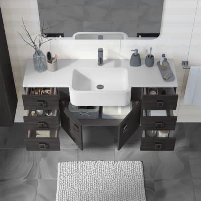 Mobile bagno Florida grigio scuro L 130 cm