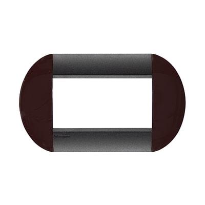 Placca 4 moduli BTicino Livinglight brown