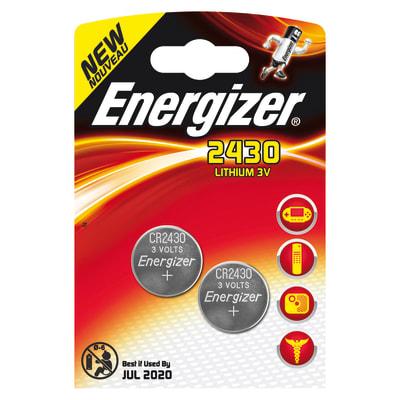 Pila a bottone Litio CR2430 Energizer 2430 blister 2pz