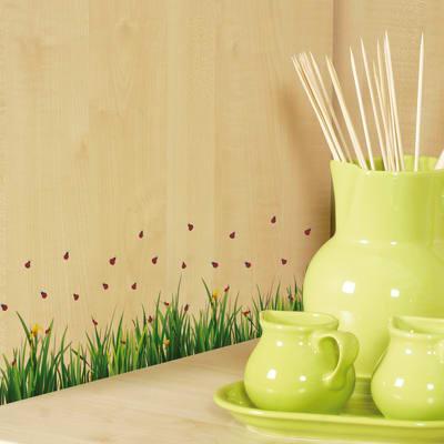 Sticker s ladybugs on grass prezzi e offerte online for Fotomurali leroy merlin