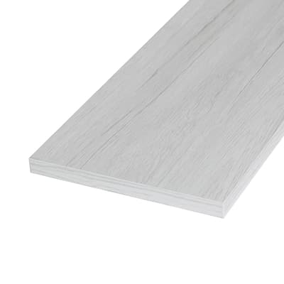Pannello melaminico rovere bianco 18 x 400 x 1200 mm