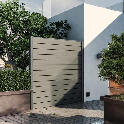 Composizione kyoto 1 pannello antracite l 187 x h 200 cm for Grate in legno per balconi