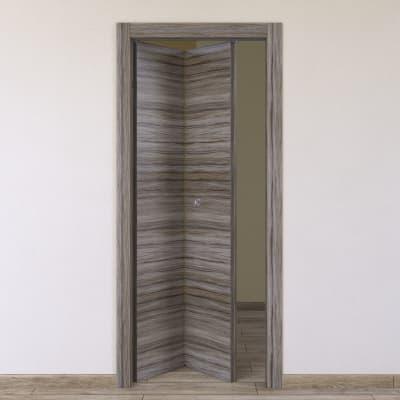Porta da interno pieghevole Cover palissandro grigio 80 x H 210 cm sx