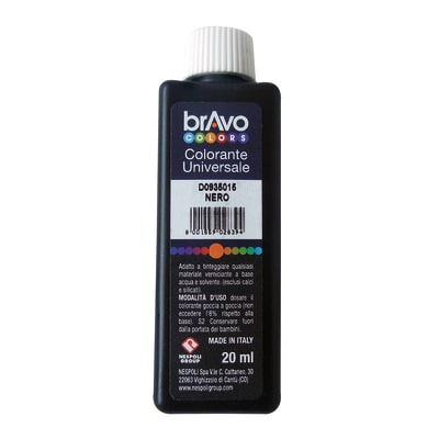 Colorante iperconcentrato ad acqua Bravo nero ossido 20 ml