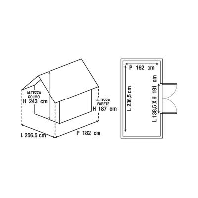 casetta in polipropilene Factor 8x6 Keter 3,83 m²