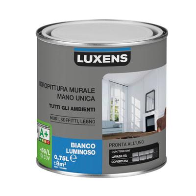 Idropittura lavabile bianca Luxens 0,75 L