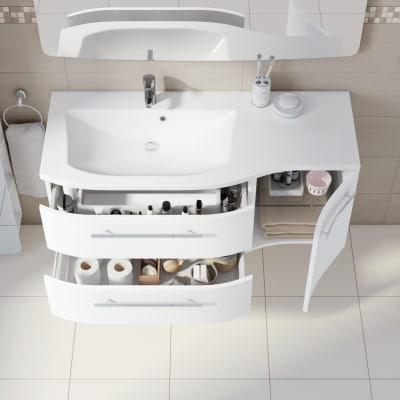 Mobile bagno Contea bianco L 124,8 cm