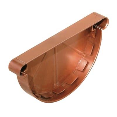 Tappo per canale di gronda in plastica Ø 12,5 cm