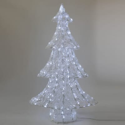 Albero di Natale luminoso 200 Led bianca fredda H 98 cm