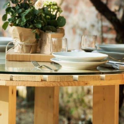 Piano tavolo tondo dogato legno 80 cm grezzo prezzi e offerte online leroy merlin - Tavole legno grezzo leroy merlin ...