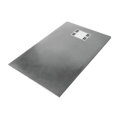 Piatto doccia resina slate 70 x 120 cm grigio prezzi e for Piatto doccia 170x70 leroy merlin