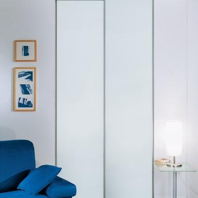 Kit 2 ante philadelphia bianco l 120 x h 270 cm prezzi e for Ante scorrevoli per armadi a muro leroy merlin