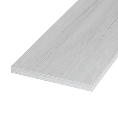 Pannello melaminico rovere bianco 18 x 200 x 1200 mm