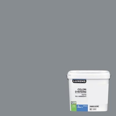 Idropittura lavabile Mano unica Grigio Sasso 3 - 4 L Luxens