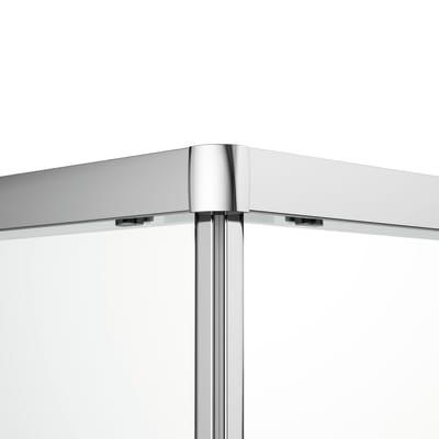 Box doccia scorrevole Dado 77.5-79 x 97,5-99, H 185 cm cristallo 5 mm trasparente/silver