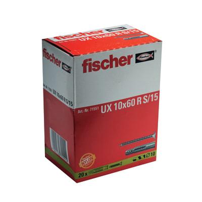 20 tasselli Fischer UX ø 10 x 60  mm con vite