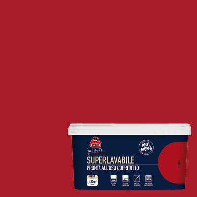 Idropittura superlavabile Antimuffa rubino 2,5 L Boero