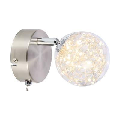 Faretto singolo Xmas spot trasparente LED integrato