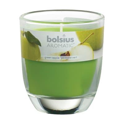 Candela cilindro ø 7 cm H 8 cm essenza mela verde
