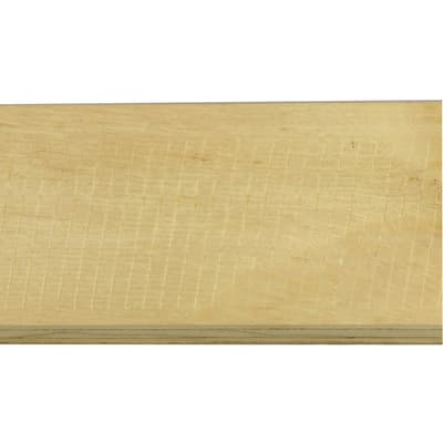 Battiscopa impiallacciato laccato bianco 13 x 80 x 2400 mm