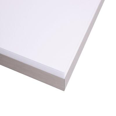 Piano cucina su misura laminato bianco lucido 2 cm