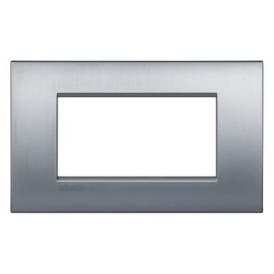 Placca 4 moduli BTicino Livinglight Air Grigio chiaro cromo