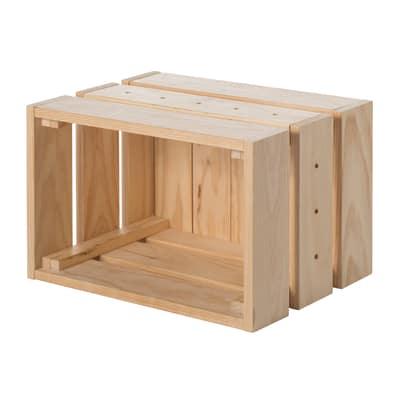 Cassetta Home Box naturale L 38,4 x P 28 x H 25,5 cm