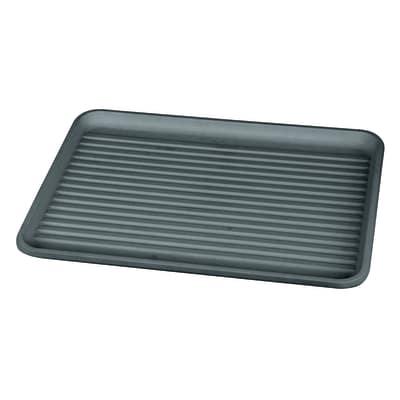 Vassoio grigio L 43,5 x P 32,5 x H 2 cm