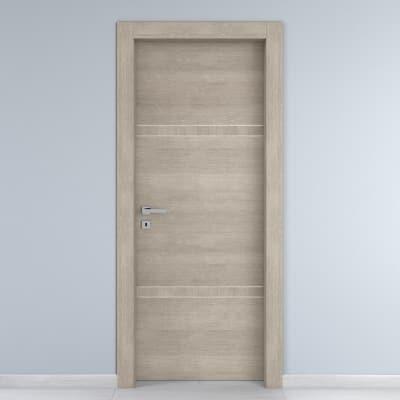 Porta da interno battente Chasing rovere chiaro 90 x H 210 cm dx