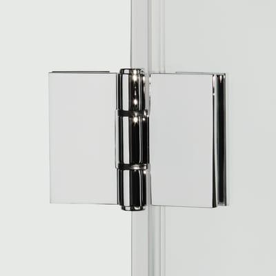 Porta doccia record 77 81 h 195 cm vetro temperato 6 mm for Porta doccia a libro leroy merlin