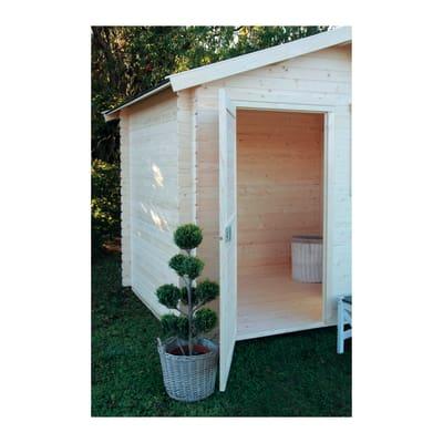casetta in legno grezzo Sally 4,32 m², spessore 18 mm
