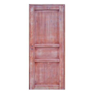 Porta da interno battente Old Town teak sbiancato 80 x H 210 cm reversibile