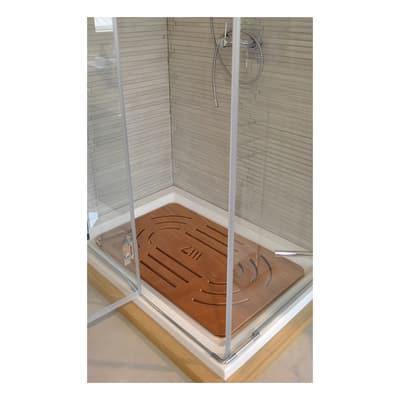 Pedana doccia in compensato marino naturale 78 x 52 cm for Compensato marino leroy merlin
