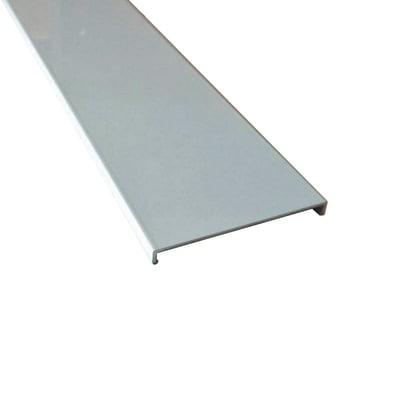 Profilo perimetrale ReadyBlock GlassCover quadro lucido alluminio 1 m, 8,53 x 0,75 cm