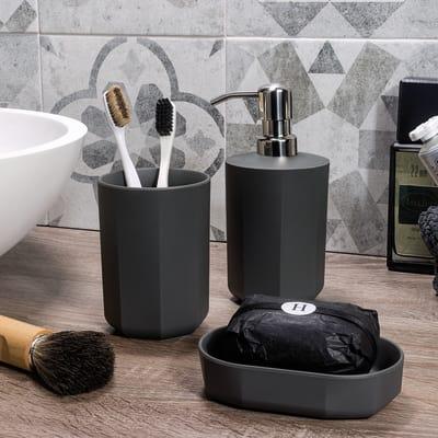 Dispenser sapone Face grigio