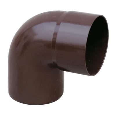 Curva pluviale in plastica Ø 63 mm, 87°