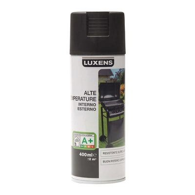 Smalto spray Luxens alte temperature nero opaco 400 ml