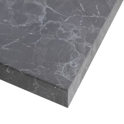 Piano cucina su misura laminato grigio 4 cm