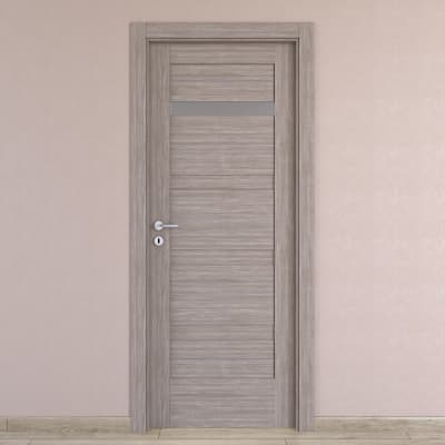 Porta da interno battente Capena 2 sabbia 80 x H 210 cm dx