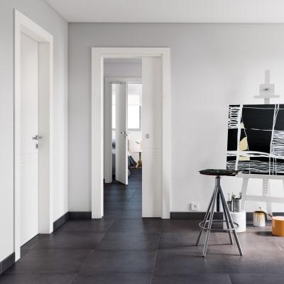 Porta da interno pieghevole Rail bianco 80 x H 210 cm sx