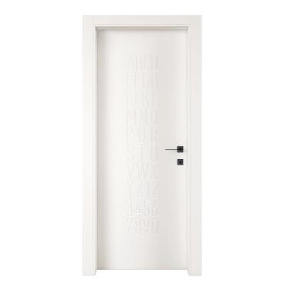 Porta da interno battente Keyboard white bianco 90 x H 210 cm sx