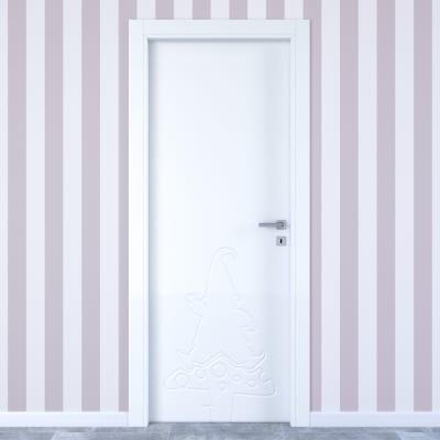 Porta da interno battente Dwarf white bianco 80 x H 210 cm sx
