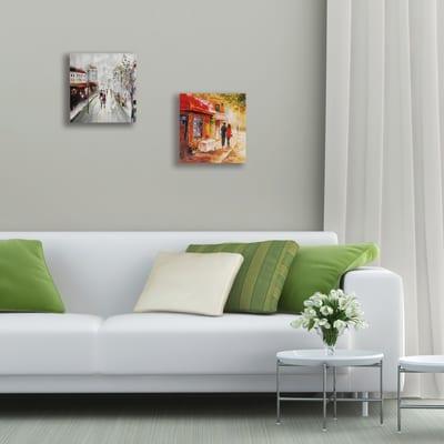 dipinto su tela Coppia a Parigi 30x30
