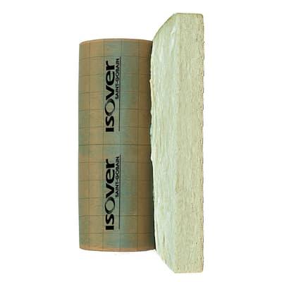 Rotolo in lana di vetro con carta kraft bitumata IBR K 4+ Isover L 1 m, spessore 50 mm