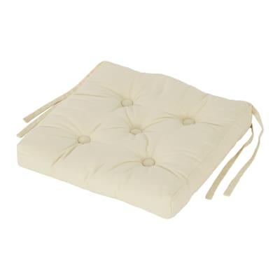 Cuscino per sedia Clea ecru 40 x 40 cm