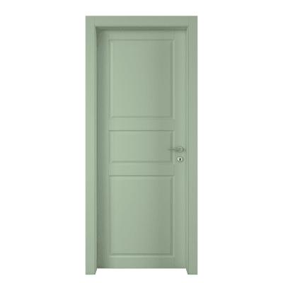 Porta da interno battente New York verde 70 x H 210 cm sx